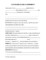 Hire Agreement Template Free