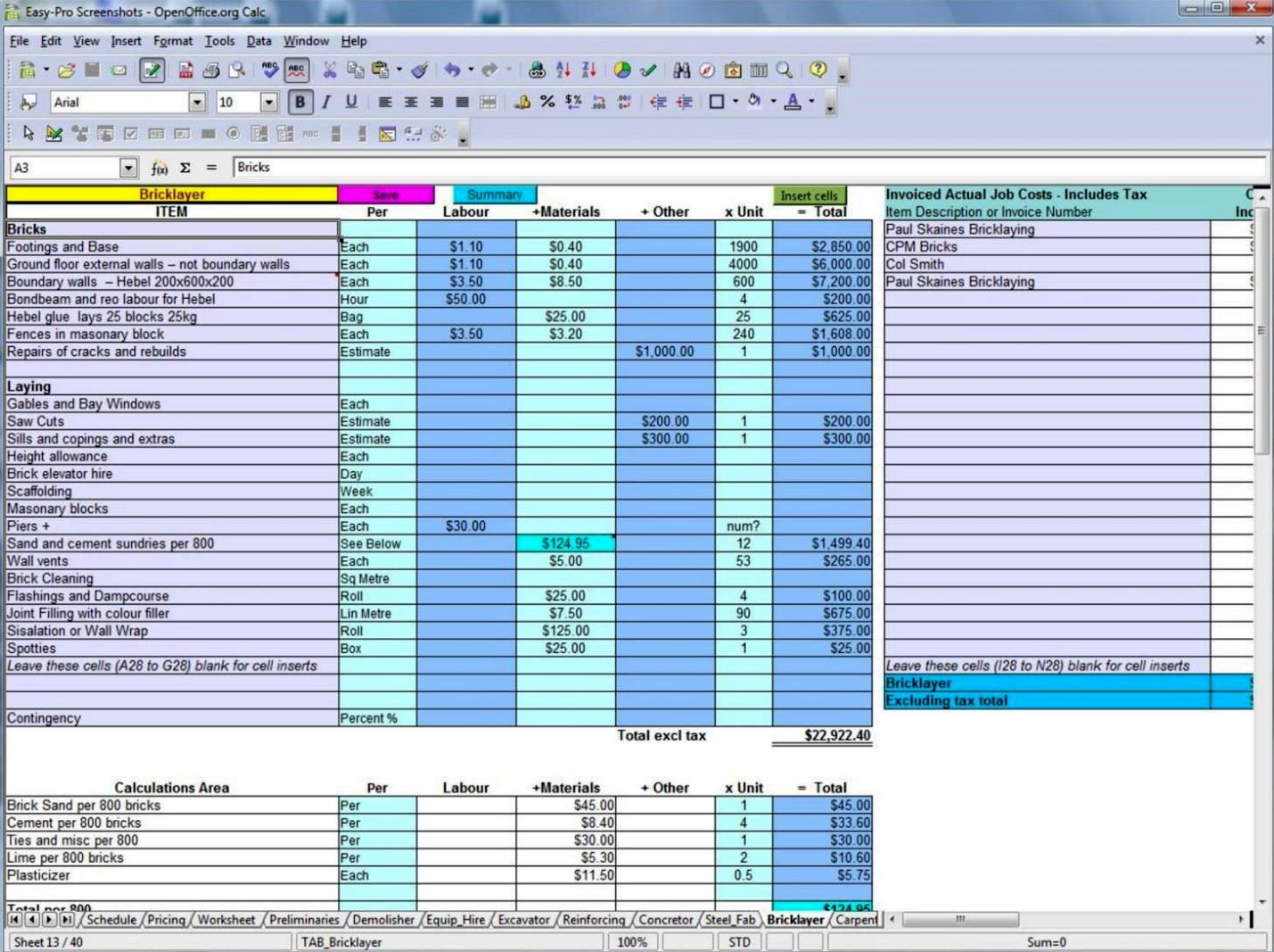 home building budget template