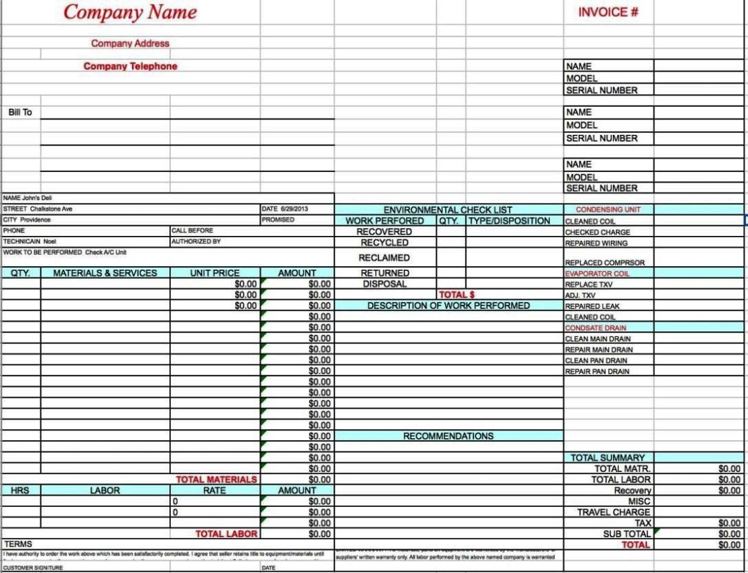 hvac installation contract template
