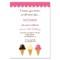 Ice Cream Social Invitation Template