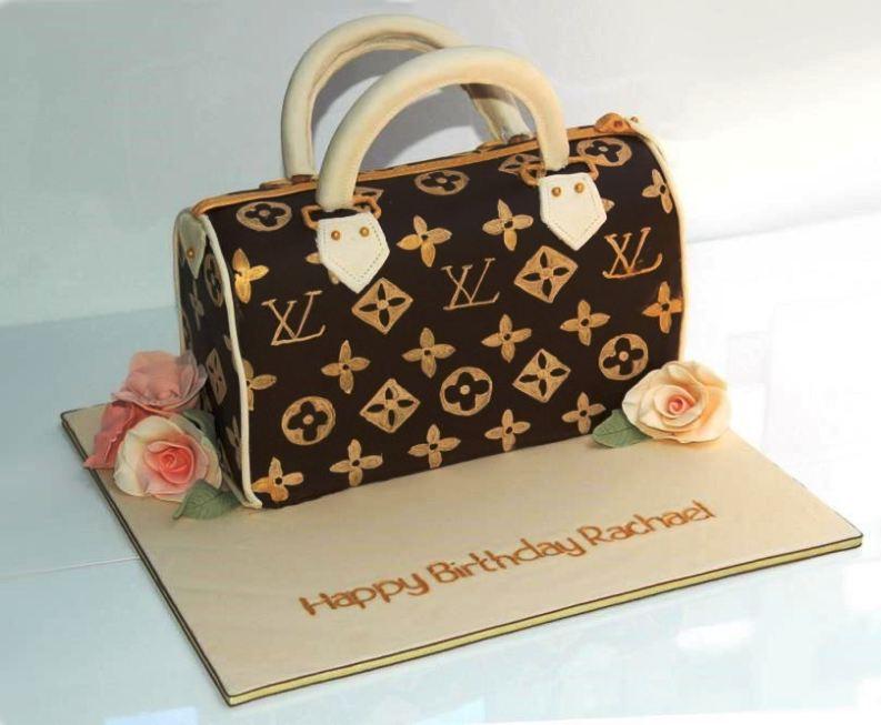 louis vuitton handbag cake template