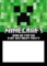 Minecraft Birthday Party Invitation Template