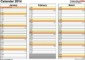 Monthly Calendar Excel Template 2014