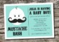 Mustache Baby Shower Invitations Templates
