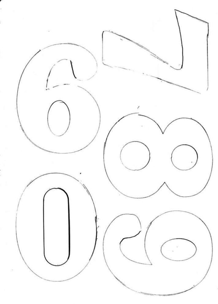 number 6 cake template - sampletemplatess