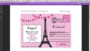 Paris Themed Invitations Template