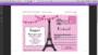 Paris Themed Invitations Template