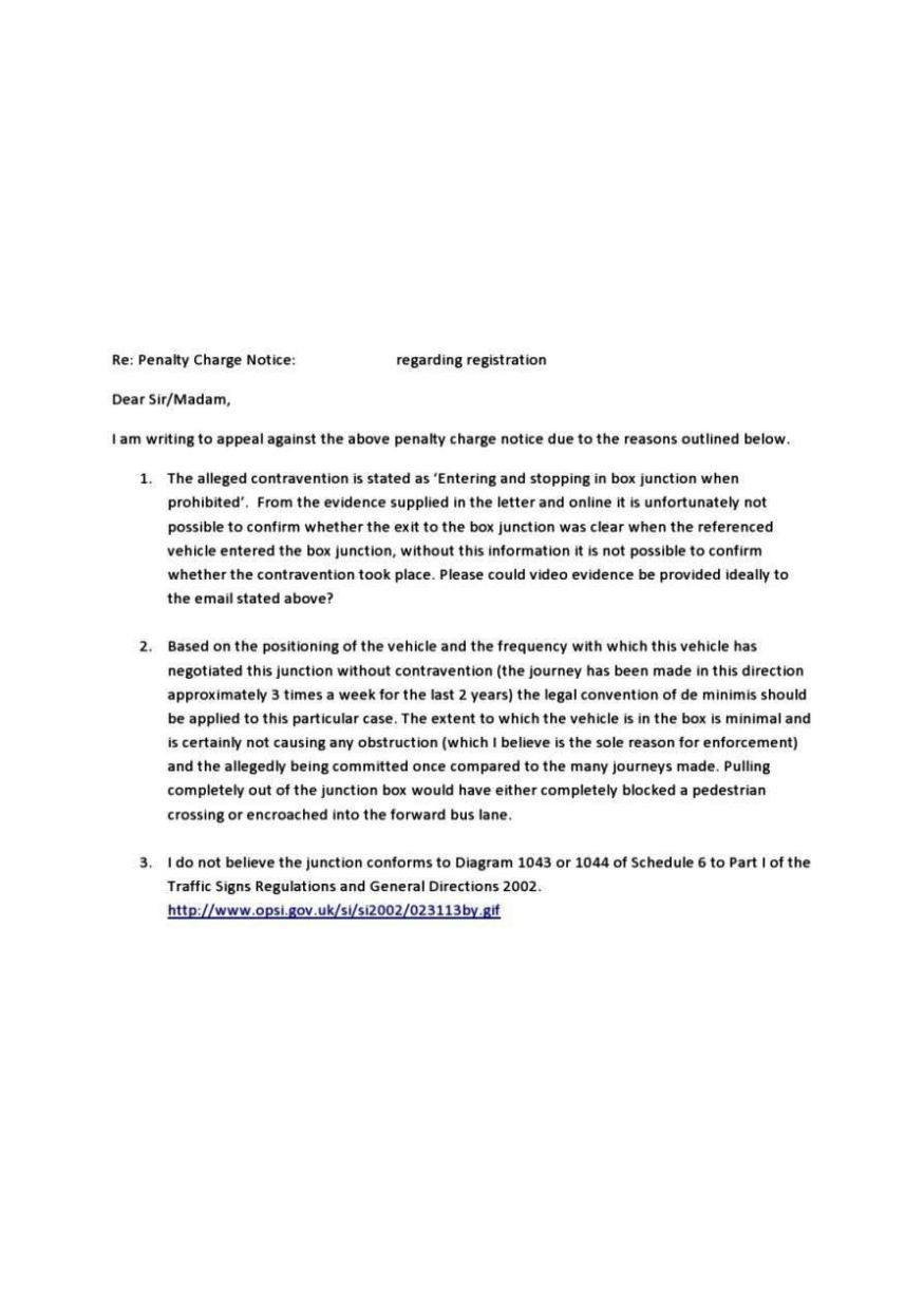 Parking Ticket Appeal Letter Example Sampletemplatess
