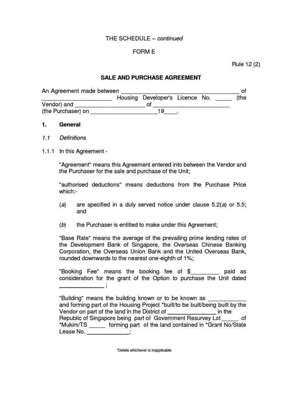 private party car sale contract template