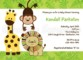 Safari Themed Baby Shower Invitation Templates