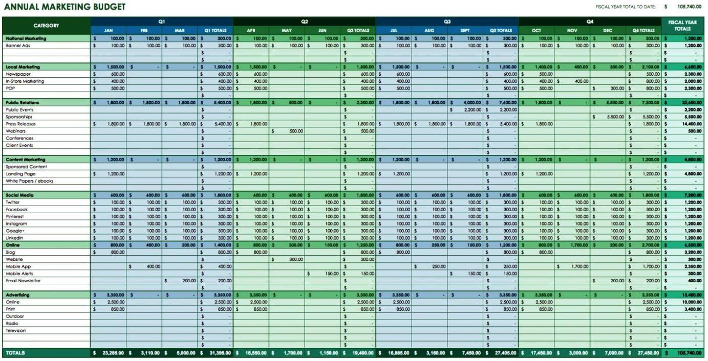 School Budget Template Excel - SampleTemplatess ...