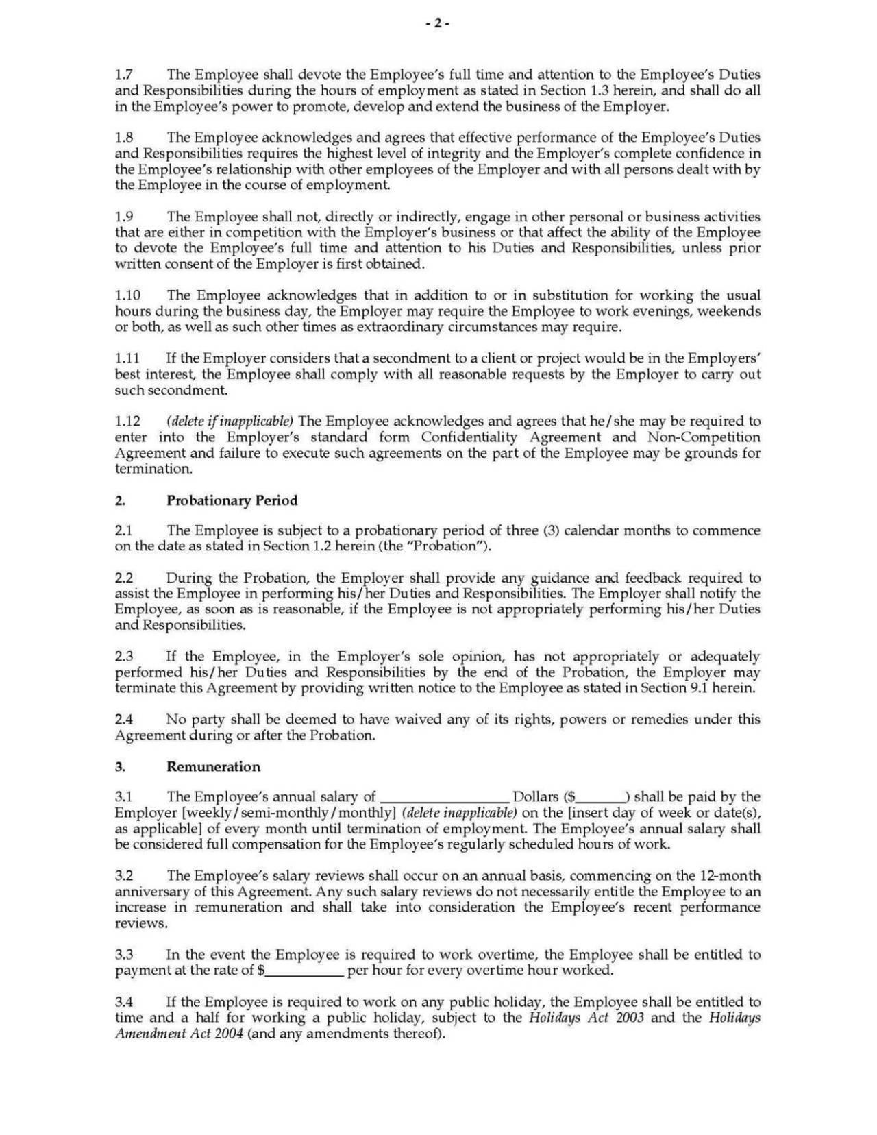 secondment agreement template