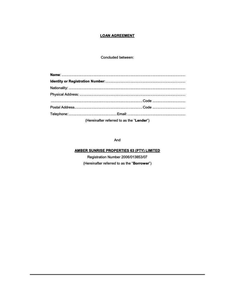 Simple Loan Agreement Template Word - SampleTemplatess ...