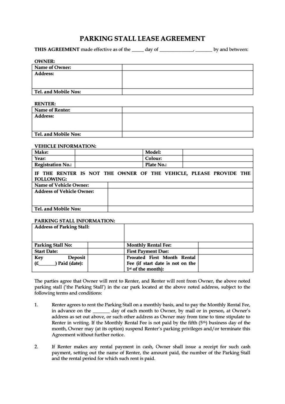 Tenancy Agreement Template Uk Free Download ...