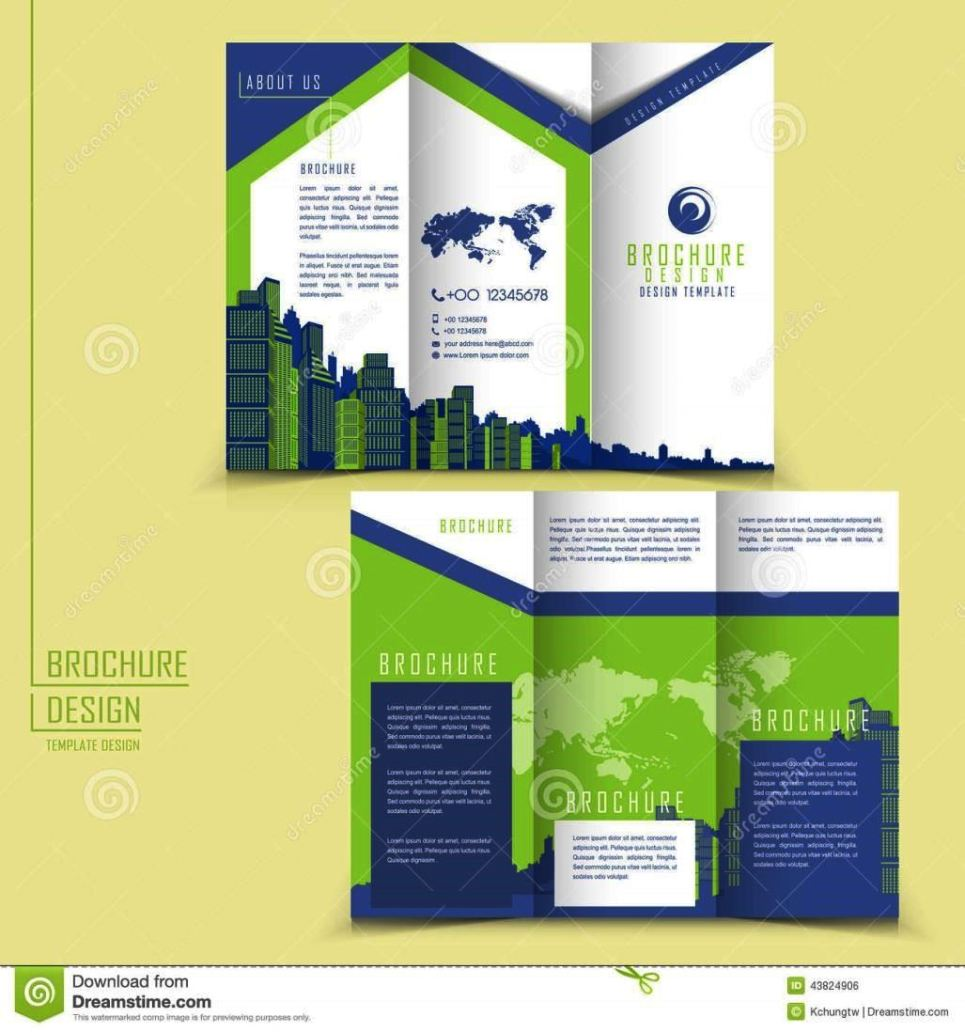 One Fold Brochure Template Free: Three Fold Brochure Template Free Download