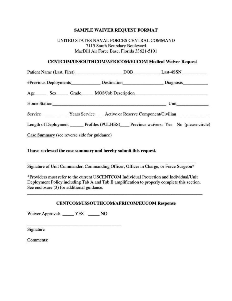 travel waiver form template