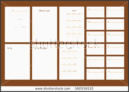 set of calendar 2017 daily planner template with pages 2017 and 2018 years to do