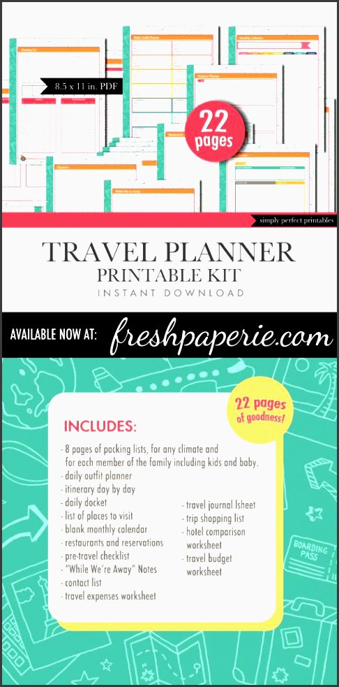 printable travel planner vacation planning sheets instant visit me at freshpaperie