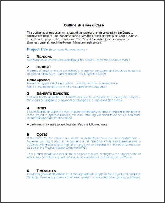 business case outline