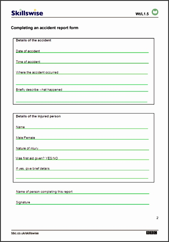 filling in a form worksheet preview