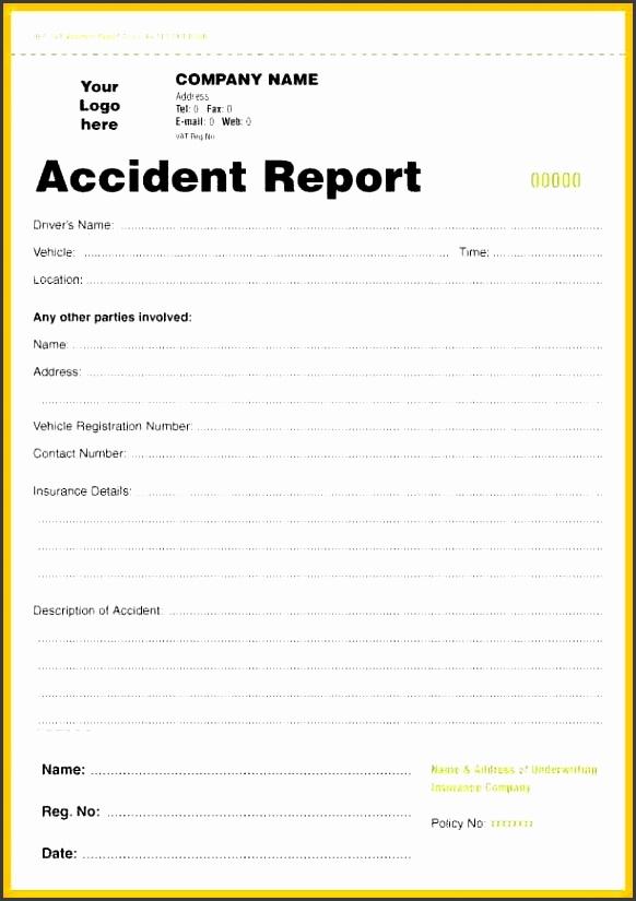accident report form gratitude