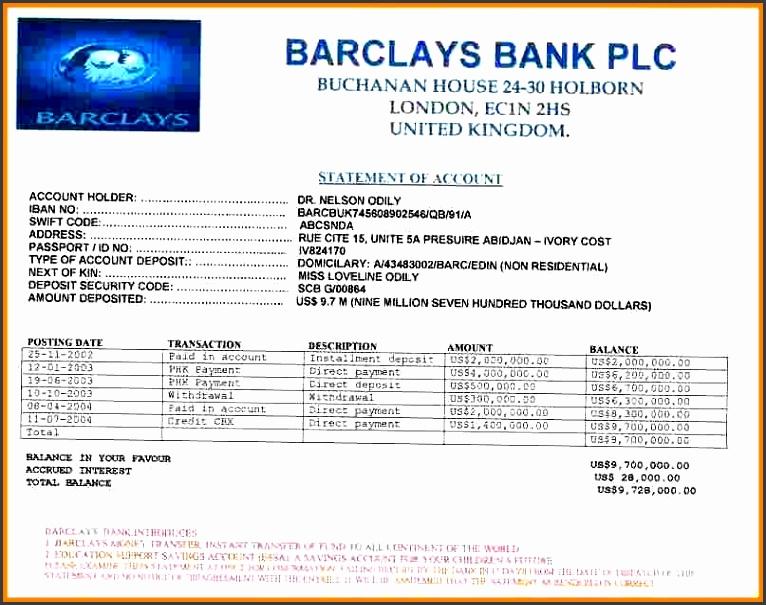 8 fake bank account statement creator statement information within fake barclays bank statement template