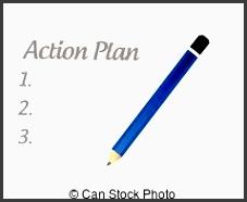 action plan list illustration design