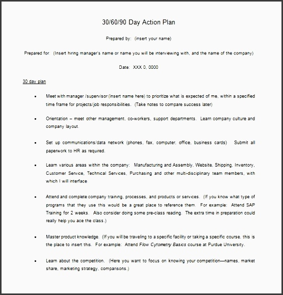 example of an action plan template