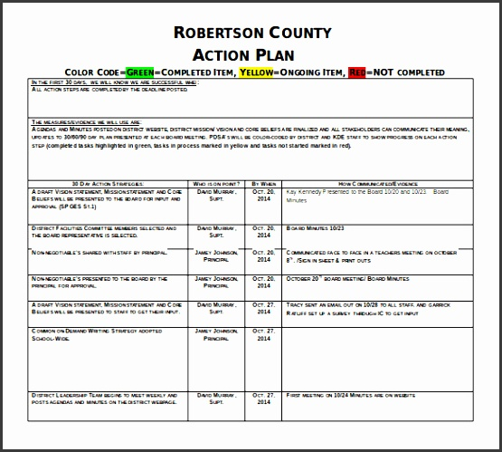 rebertson country 30 60 90 day action plan sample