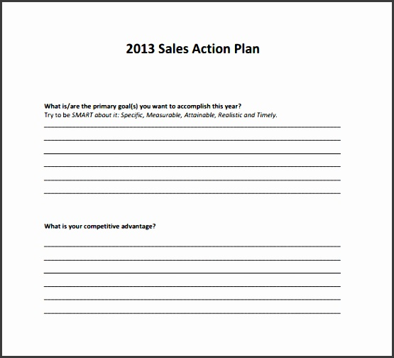 action plan templates 8 samples examples format sample