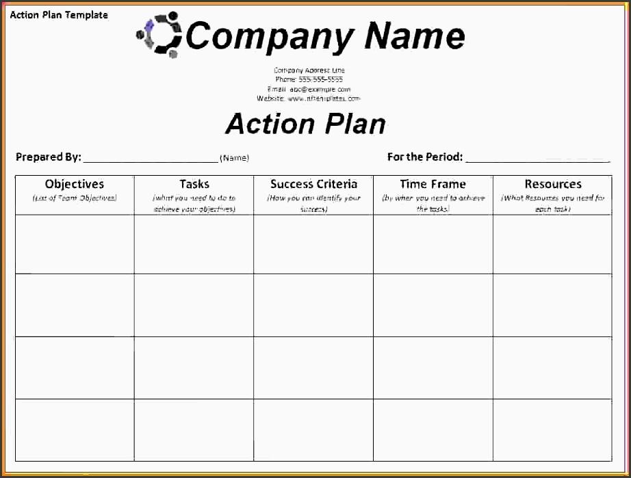 action plan template exceltion plan templates