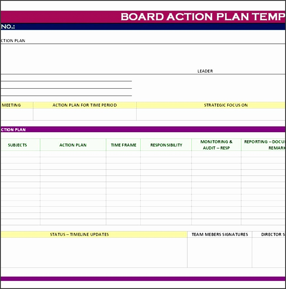 stunning general action plan template word examples thogati with regard to business plan excel template