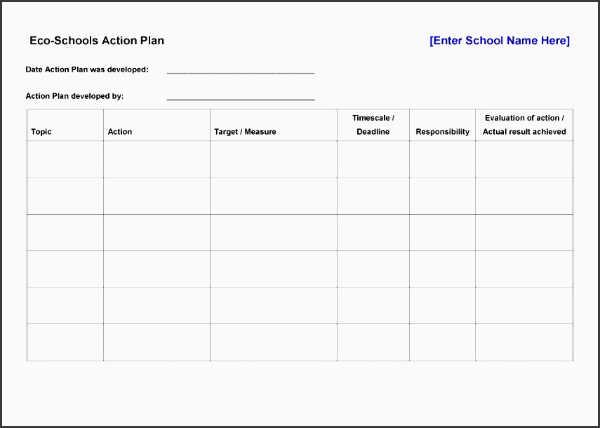 45 free action plan templates corrective emergency business