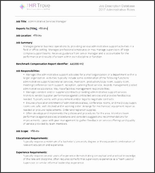 picture of administration job description sample kit
