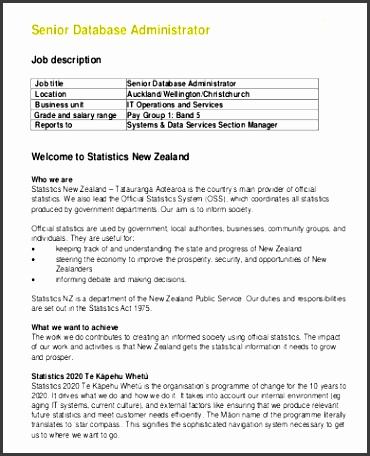 job description database sample database administrator
