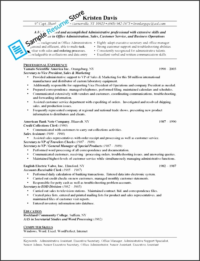 administrative assistant job description for resume template administration intended