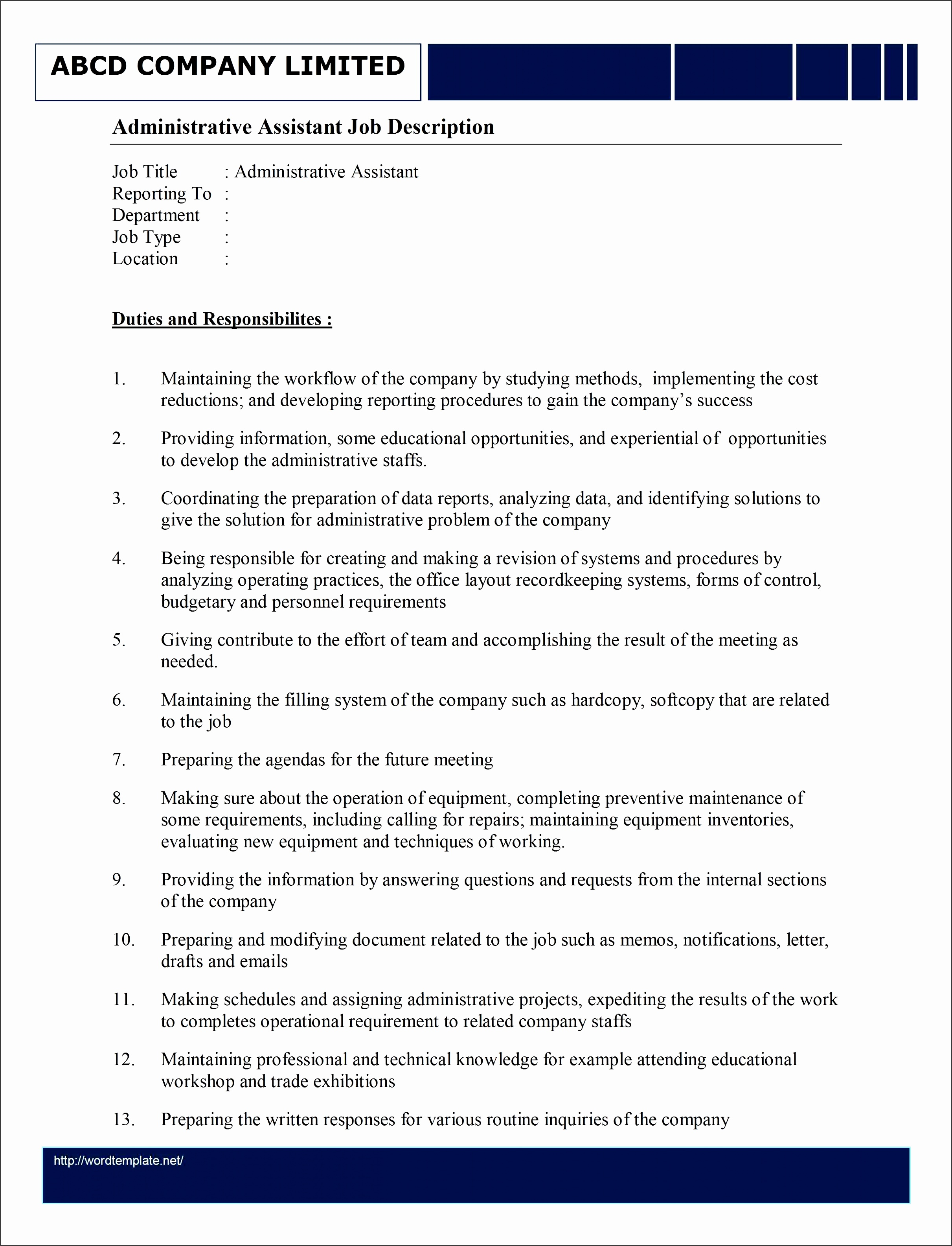 duties of an administrative assistant 12 administrative assistant job description templates