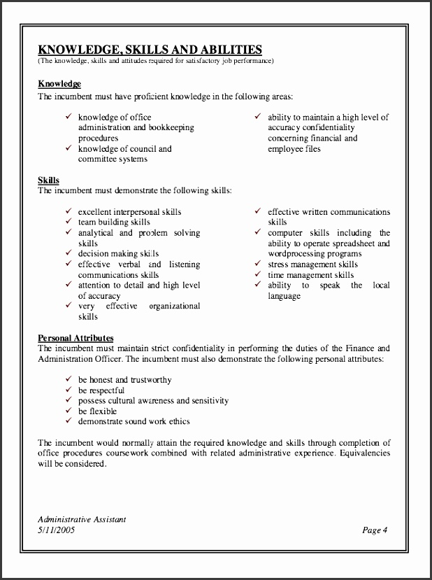 job description sample administrative assistant graduation with regard to administrative assistant job description for resume