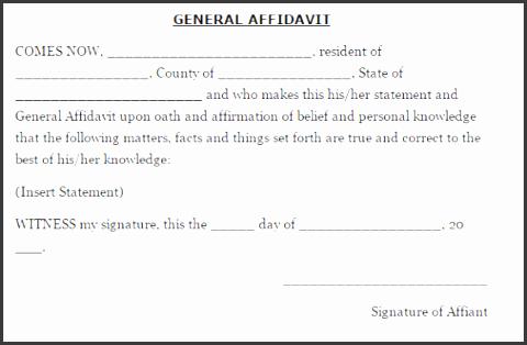 33 free affidavit form templates in word excel pdf