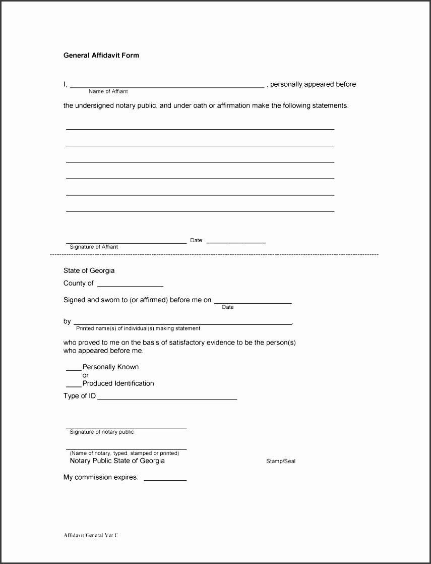 printable affidavit form 12
