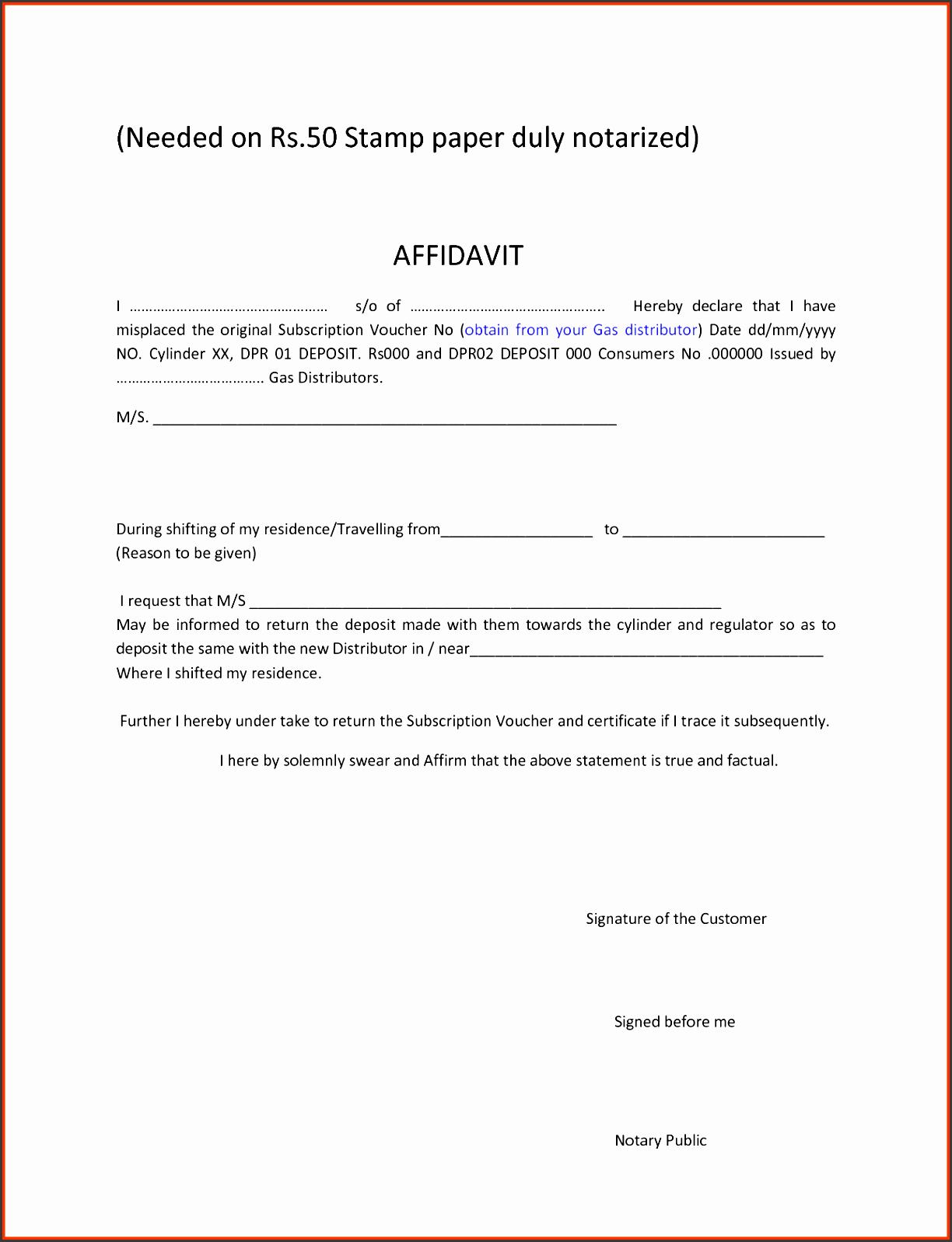 notary template moa format notary template affidavit forms printable blank affidavit form template example with date