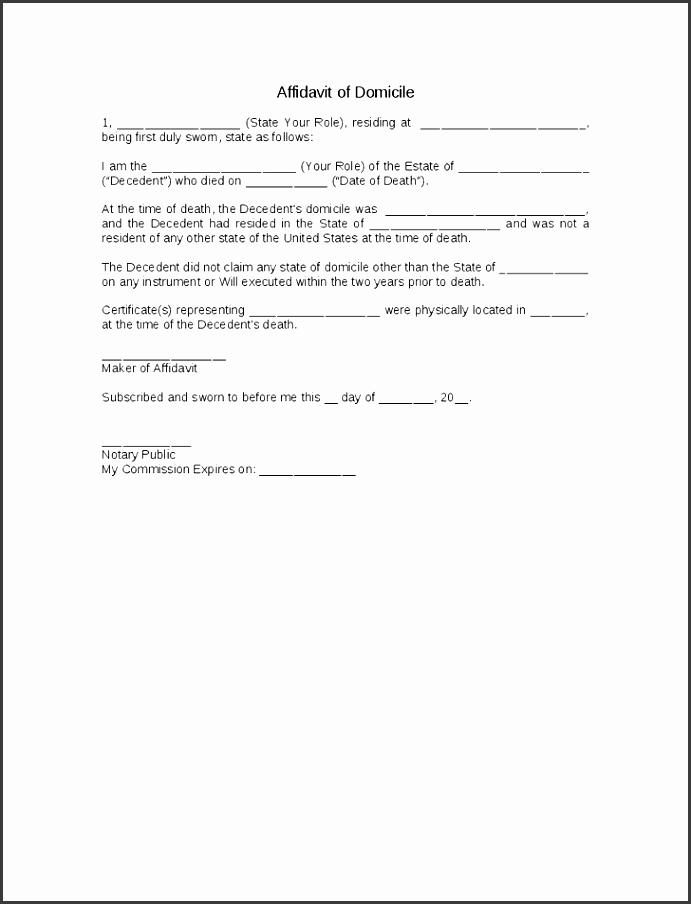 pin free affidavit form template on pinterest