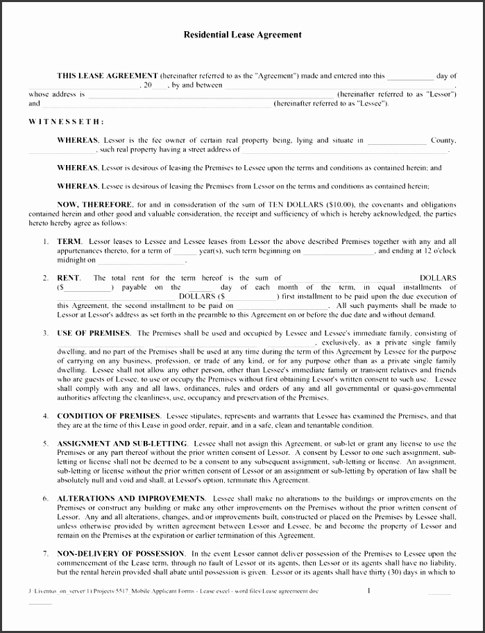 free copy rental lease agreement free printable lease agreement as pdf