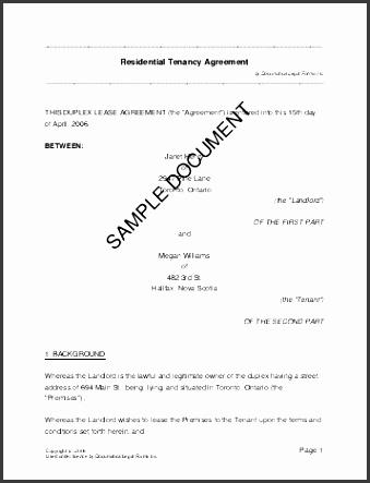 canada residential rental lease