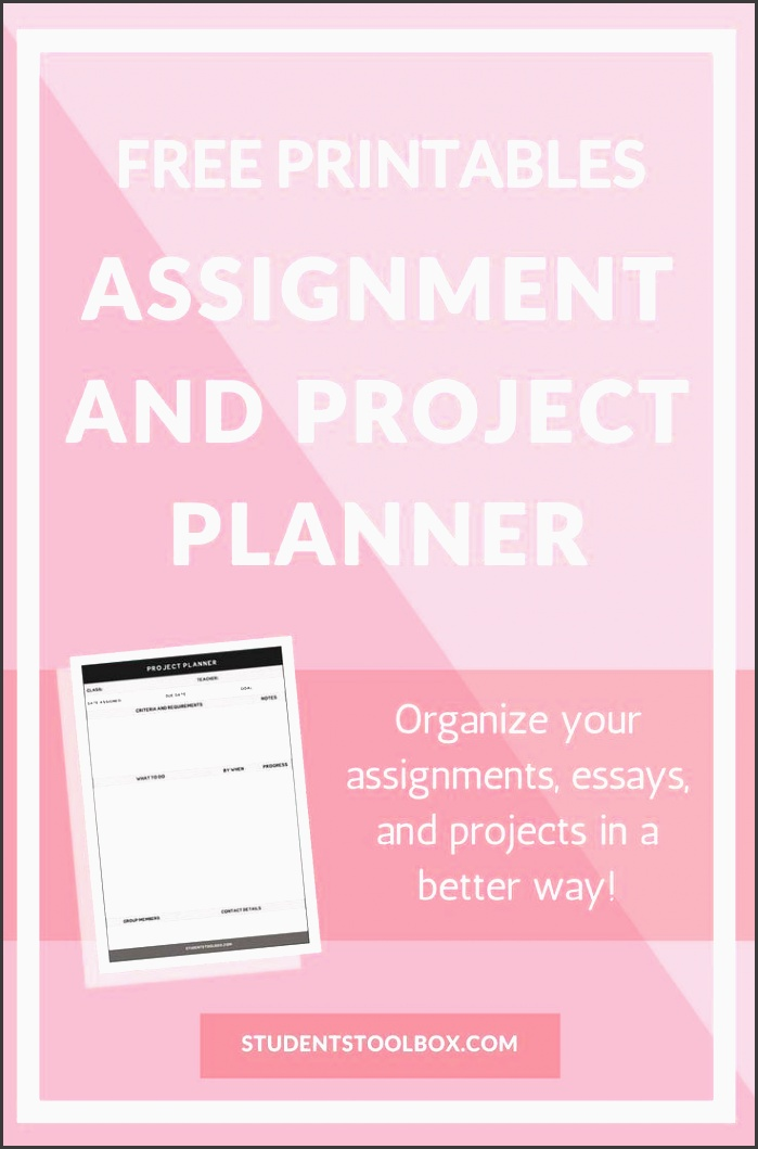 free printables assignment and project planner