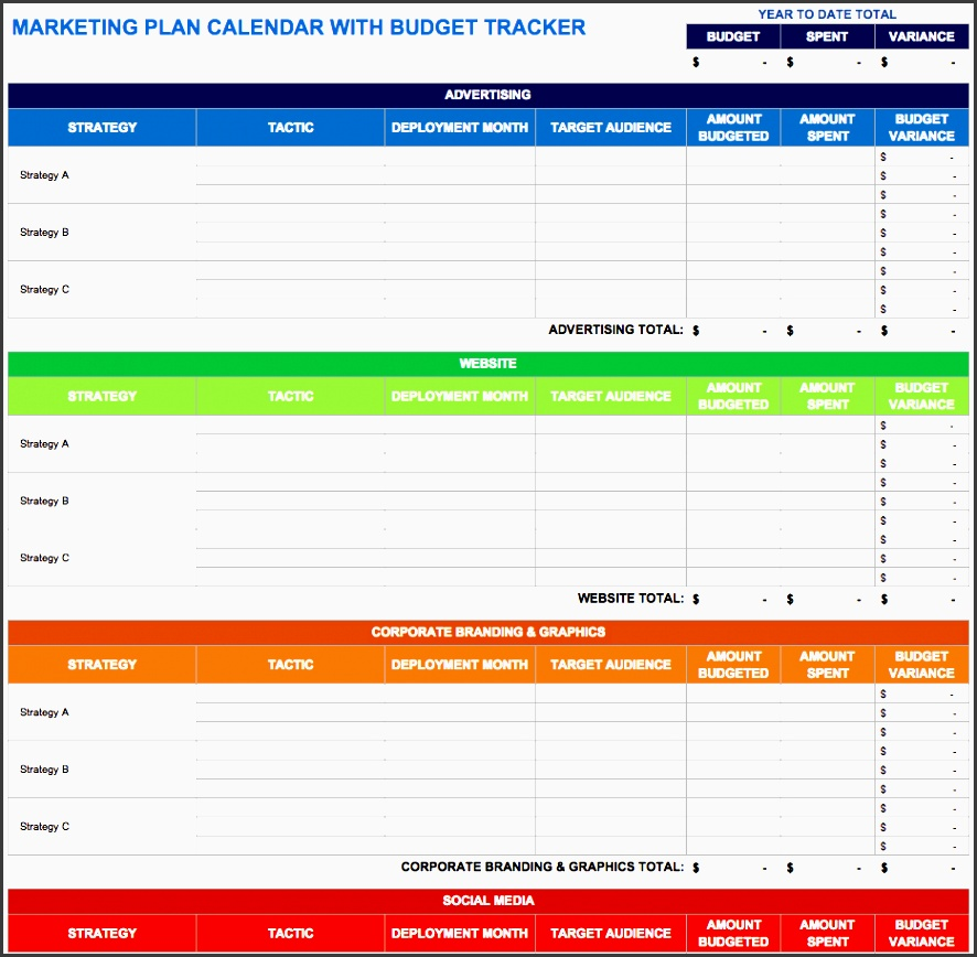 marketing plan calendar with bud tracker use this marketing plan calendar template