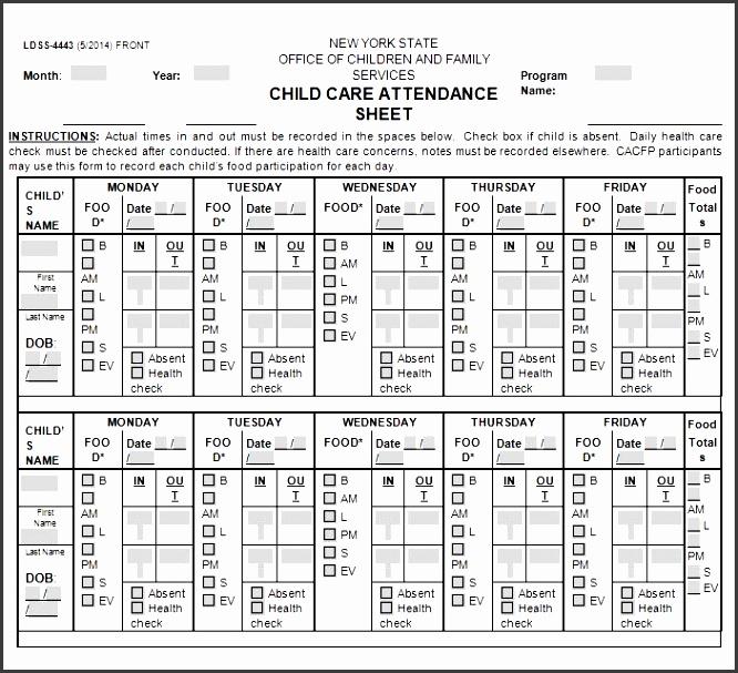 printable attendance sheet 02