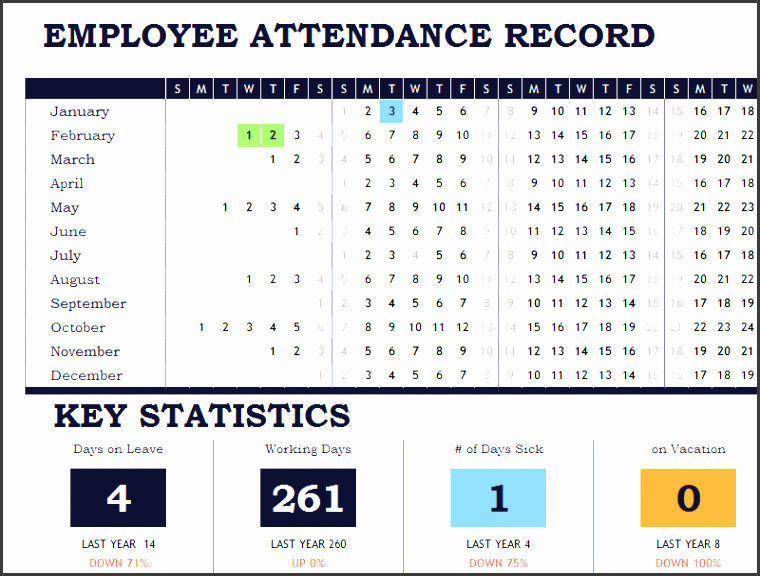 attendance tracking template 8789
