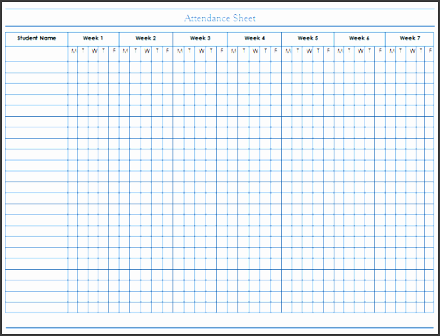 attendance sheet template for panies and employees