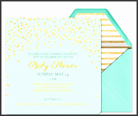 baby sparkle invitation